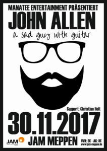 30.11.2017: John Allen + Support TICKETS AUFGESTOCKT!