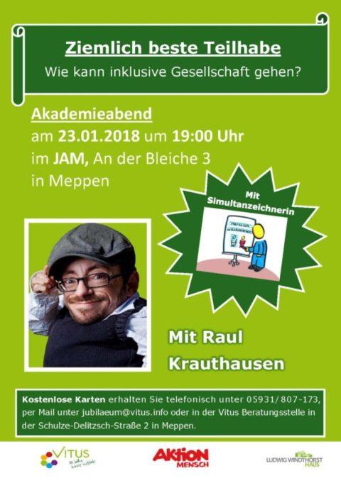 23.01.2018: Ziemlich beste Teilhabe – Akademieabend mit Raul Krauthausen