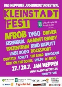 27./28.07.2018: KLEINSTADTFEST - Das Meppener Jugendkulturfestival