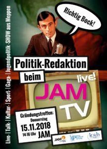 15.11.2018: Gründungstreffen Politik-Redaktion JAM-TV