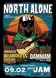 9.2.2019: Punk Rock Show mit North Alone, Damniam und Beardless!