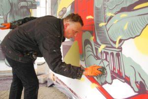 Künstler schaffen Urban-Art für Meppener Bahnhof am JAM