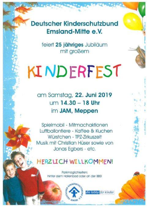 22.6.2019: Kinderfest zum Jubiläum des Kinderschutzbundes Meppen