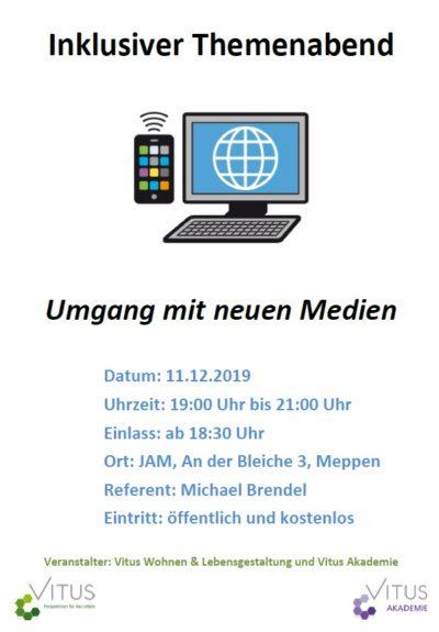 11.12.2019: Vitus Akademie: Umgang mit Medien