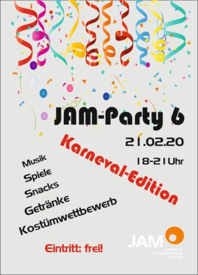 21.2.2020: JAM Party: Karnevalsedition