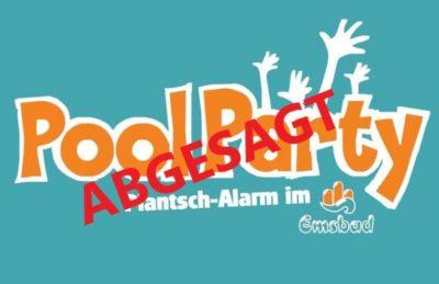 ABGESAGT!!! 27.3.2020: Poolparty im Emsbad